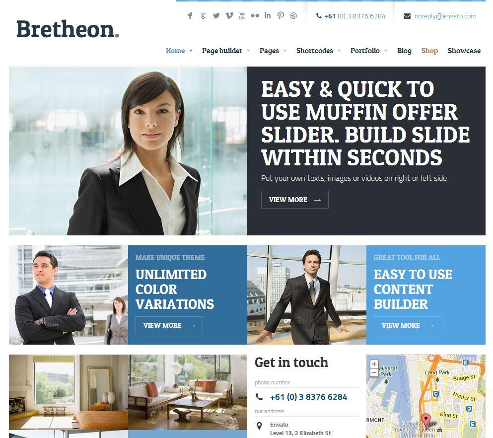 Bretheon Premium Wordpress Theme V2 0 1 Dev Web